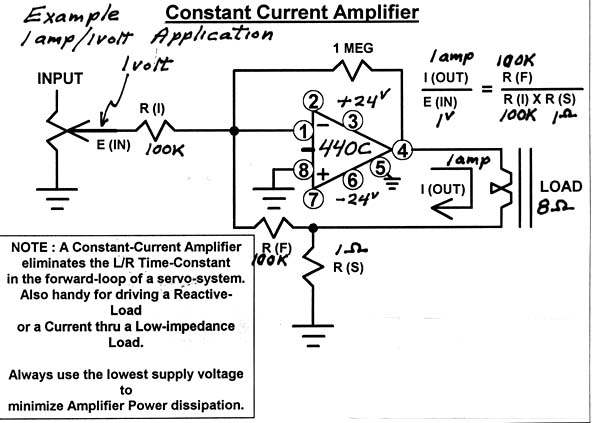 Constant Voltage Speaker System : Constant current amp application opamp labs inc
